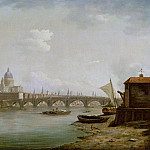 William Marlow - St. Pauls and Blackfriars Bridge, London