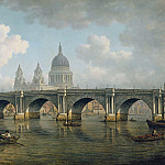 William Marlow - Blackfriars Bridge and St. Pauls Cathedral
