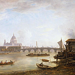 William Marlow - St Pauls and Blackfriars Bridge