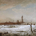 William Marlow - London Bridge in the Great Frost of 1776