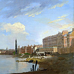 William Marlow - A Study of the Thames with the Final Stages of the Adelphi