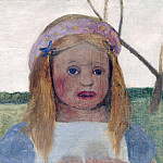 Paula Modersohn-Becker - Girl with Garland of Flowers in her Hair