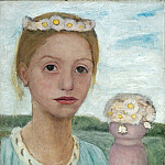 Paula Modersohn-Becker - Girl with Garland of Flowers