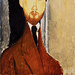 Amedeo Modigliani - Modigliani Portrait of Leopold Zborowski, 1919, Barnes found