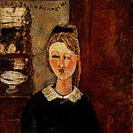 Amedeo Modigliani - Modigliani The Pretty Housewife, 1915, Barnes foundation