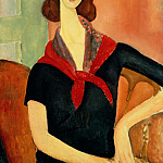 Amedeo Modigliani - Young Woman (With Silk Neckerchief), Modigliani - 1600x1200