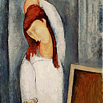 Amedeo Modigliani - Modigliani Jeanne Hbuterne, Left Arm Behind her Head, 1919,