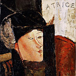 Amedeo Modigliani - Modigliani Portrait of Beatrice Hastings, 1916, Barnes found