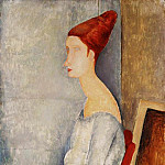 Amedeo Modigliani - Modigliani Jeanne Hbuterne Seated in Profile, 1918, Barnes f
