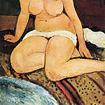 Amedeo Modigliani - Sitting nude