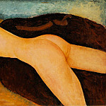 Amedeo Modigliani - Modigliani Nu couche de dos, 1917 (100 Kb) Oil on canvas, 6