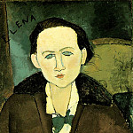 Amedeo Modigliani - Modigliani Elena Pavlowski, 1917, 64.8x48.9 cm, The Phillips