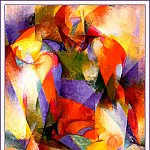 Stanton Macdonald - Wright- Synchromy In Green And Orange