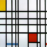 Piet Mondrian - 1921 Composition with Red, Yellow and Blue