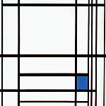 Piet Mondrian - composition with blue 1937