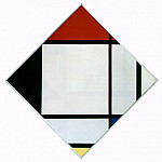 Piet Mondrian - Lozenge Composition with Red, Black,Blue and Yellow