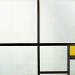 Piet Mondrian - Composition with yellow patch, 1930, 46x46.5 cm, Ku