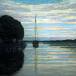 Piet Mondrian - Piet River view with a boat