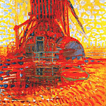Piet Mondrian - windmill in sunlight 1908
