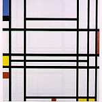 Piet Mondrian - Composition No. 10, 1939-42, 80x73 cm,