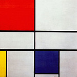 Piet Mondrian - composition with red yellow and blue 1935