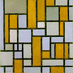 Piet Mondrian - Composition with Gray and Light Brown, 1918, 80.2x4