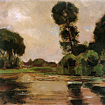 Piet Mondrian - Piet Lonely tree at the Gein