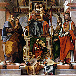 Gentile da Fabriano - Madonna and Child with Saints Andrew, Monica, Ursula, and Sigismund