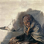 Hans von Marees - Old woman