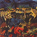 Ludwig Meidner - meidner_the_burning_city_1913