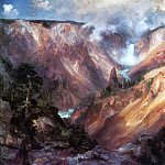Thomas Moran - Grand Canyon of Yellowstone 1400x768