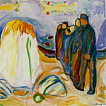 Edvard Munch - Meeting 1921, Collection of Nadia and Jacob Stolt-Niel