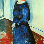 Edvard Munch - Woman in Blue (Frau Barth), 1921, oil on canvas, priva