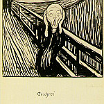 Edvard Munch - Skriet 1895, Litografi, Collection of Nelson Blitz, Jr