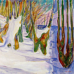 Edvard Munch - Old Trees c.1923-25, Private collection