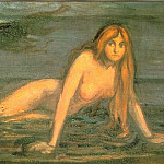 Edvard Munch - Mermaid (The Lady From The Sea - detail)