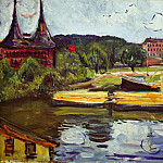Edvard Munch - At the Holstentor