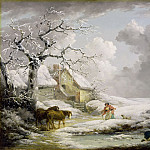 Winter Landscape with Men Snowballing an Old Woman, 1790