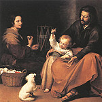 Bartolome Esteban Murillo - The Holy Family 1650
