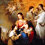 Bartolome Esteban Murillo - The Virgin and Child with St Rosalina