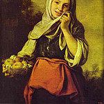 Bartolome Esteban Murillo - A Girl with Fruits