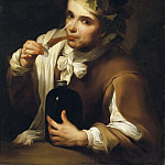 Young Man drinking Wine [Manner of]