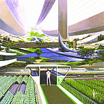 Syd Mead - fat-SydMead-SpaceStationInterior