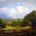 Frank Mason - APPROACHING STORM oil on canvas 40H by 48W