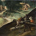 Landscape with Men Sawing Timber