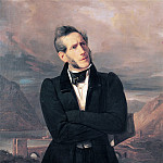 Francesco Hayez - Portrait of Alessandro Manzoni with views of Lecco