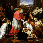 Pierre Mignard - St. Charles Borromeo (1538-1584) Administering the Sacrament to Plague Victims in Milan in 1576