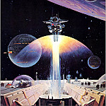 Robert Mccall - Space Station In Earth Orbit Detail