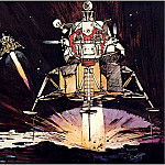 Robert Mccall - Eagle Touches Down On Mars