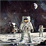 Robert Mccall - The First Men On The Moon
